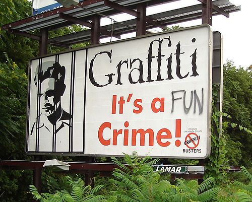 grafitti is a fun crime