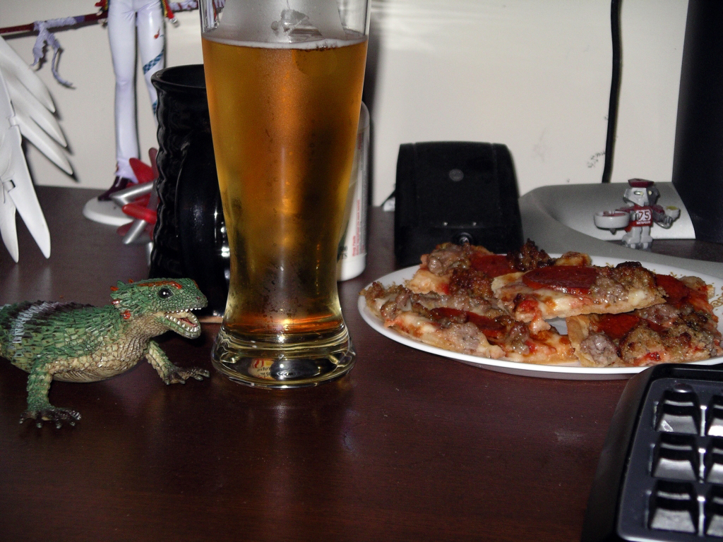 trippy, pizza, and beer